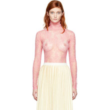 GUCCI   Gucci Pink Long Sleeve Lace Blouse   Clouty