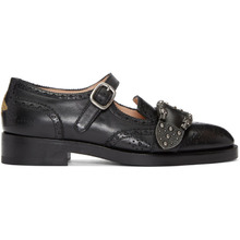 GUCCI | Gucci Black Iowa Dionysus Mary Jane Brogues | Clouty