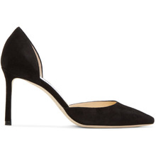 Jimmy Choo | Jimmy Choo Black Suede Esther 85 Heels | Clouty