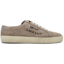 SAINT LAURENT | Saint Laurent Pink Embroidered Court Classic Sneakers | Clouty