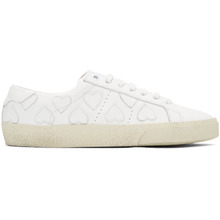 SAINT LAURENT | Saint Laurent White Heart Court Classic Sneakers | Clouty