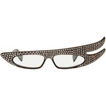 GUCCI | Gucci Tortoiseshell Asymmetric Rhinestone Sunglasses | Clouty