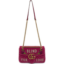 GUCCI | Gucci Pink Medium GG Marmont 2.0 Blind For Love Bag | Clouty