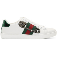 GUCCI | Gucci White Safety Pin Ace Sneakers | Clouty