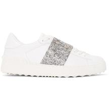 VALENTINO   Valentino White and Silver Valentino Garavani Crystal Open Sneakers   Clouty