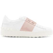 VALENTINO   Valentino White and Pink Valentino Garavani Open Sneakers   Clouty