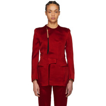 Haider Ackermann | Haider Ackermann Red Open Back Jacket | Clouty