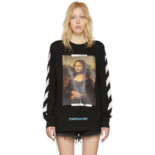 Off-White | Off-White Black and White Diagonal Monalisa T-Shirt | Clouty