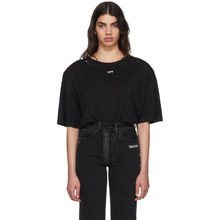 Off-White | Off-White Black Off Shoulder Pad T-Shirt | Clouty