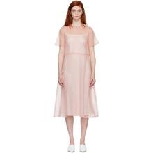 Mansur Gavriel | Mansur Gavriel Pink Silk Voluminous Dress | Clouty