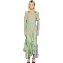 Loewe | Loewe Beige Diagonal Cut Fringe Dress | Clouty
