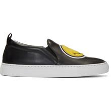 Joshua Sanders | Joshua Sanders Black Smile Double Slip-On Sneakers | Clouty