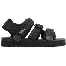 Suicoke   Suicoke Black and Grey Kisee-V Sandals   Clouty
