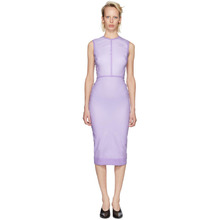 Victoria Beckham | Victoria Beckham Purple Linear Fitted Dress | Clouty