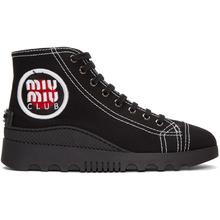 MIU MIU   Miu Miu Back Logo Patch High-Top Sneakers   Clouty