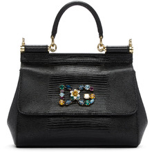 Dolce & Gabbana | Dolce and Gabbana Black Small Miss Sicily Bag | Clouty