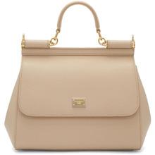Dolce & Gabbana | Dolce and Gabbana Beige Medium Miss Sicily Bag | Clouty
