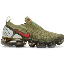 NIKE   Nike Green and Red VaporMax FK MOC 2 Sneakers   Clouty