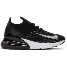 NIKE   Nike Black and White Flyknit Air Max 270 Sneakers   Clouty