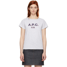 A.P.C. | A.P.C. Grey US Logo T-Shirt | Clouty