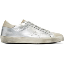 Golden Goose Deluxe Brand | Golden Goose Silver and Grey Skate Superstar Sneakers | Clouty