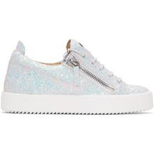 Giuseppe Zanotti   Giuseppe Zanotti White Glitter May London Sneakers   Clouty