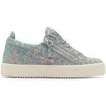 Giuseppe Zanotti   Giuseppe Zanotti Grey Glitter May London Sneakers   Clouty