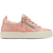 Giuseppe Zanotti   Giuseppe Zanotti Pink Glitter May London Sneakers   Clouty