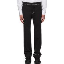 GIVENCHY | Givenchy Black Zig Zag Stitch Trousers | Clouty