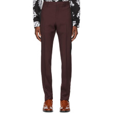 GIVENCHY | Givenchy Burgundy Slim Trousers | Clouty
