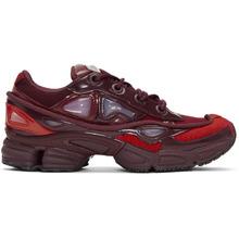 Raf Simons | Raf Simons Red and Burgundy adidas Originals Edition Ozweego III Sneakers | Clouty