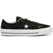 CONVERSE | Converse Black Suede One Star Skate Sneakers | Clouty