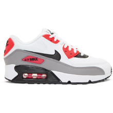 NIKE   Nike White and Red Air Max 90 Sneakers   Clouty