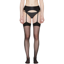 Wolford | Wolford Black Satin Stocking Belt | Clouty
