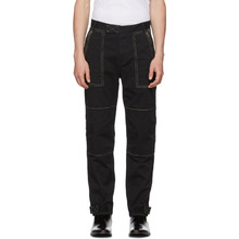GIVENCHY | Givenchy Black Zippered Cargo Trousers | Clouty