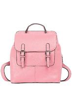 La Reine Blanche | Розовый кожаный рюкзак | Clouty