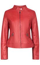 La Reine Blanche | Красная кожаная куртка | Clouty