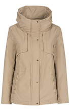 S.Oliver | Бежевая куртка прямого на молнии | Clouty