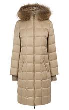 La Reine Blanche   утепленное пальто с отделкой мехом енота   Clouty