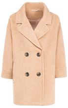 La Reine Blanche   Двубортное полушерстяное пальто с английским воротником   Clouty