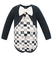 Lucky Child | Боди Lucky Child Шахматный турнир, цвет: бежевый/серый | Clouty