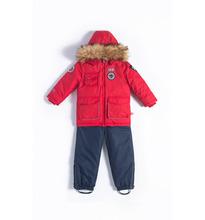 Лайки | Комплект куртка/комбинезон Лайки Авиатор, цвет: красный/синий | Clouty