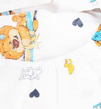 Зайка Моя | Зайка Моя Простыня на резинке Мишка Косолапый 100 х 160 см, цвет: голубой | Clouty