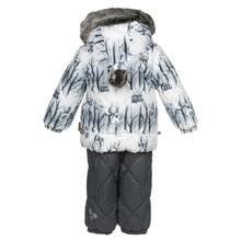 Huppa   Комплект куртка/брюки Huppa Noelle 1, цвет: белый/серый   Clouty