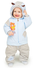Babyglory | Комбинезон Babyglory Надписи, цвет: голубой | Clouty