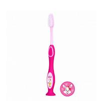 Chicco | Зубная щетка Chicco с присоской, цвет: розовый | Clouty