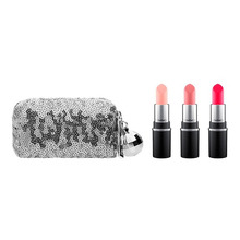 MAC | MAC SNOW BALL MINI LIPSTICK KIT PINK Набор для губ SNOW BALL MINI LIPSTICK KIT PINK Набор для губ | Clouty