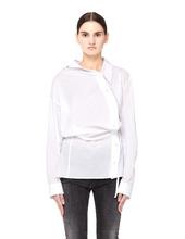 Ann Demeulemeester   Белая хлопковая блузка с драпировкой   Clouty